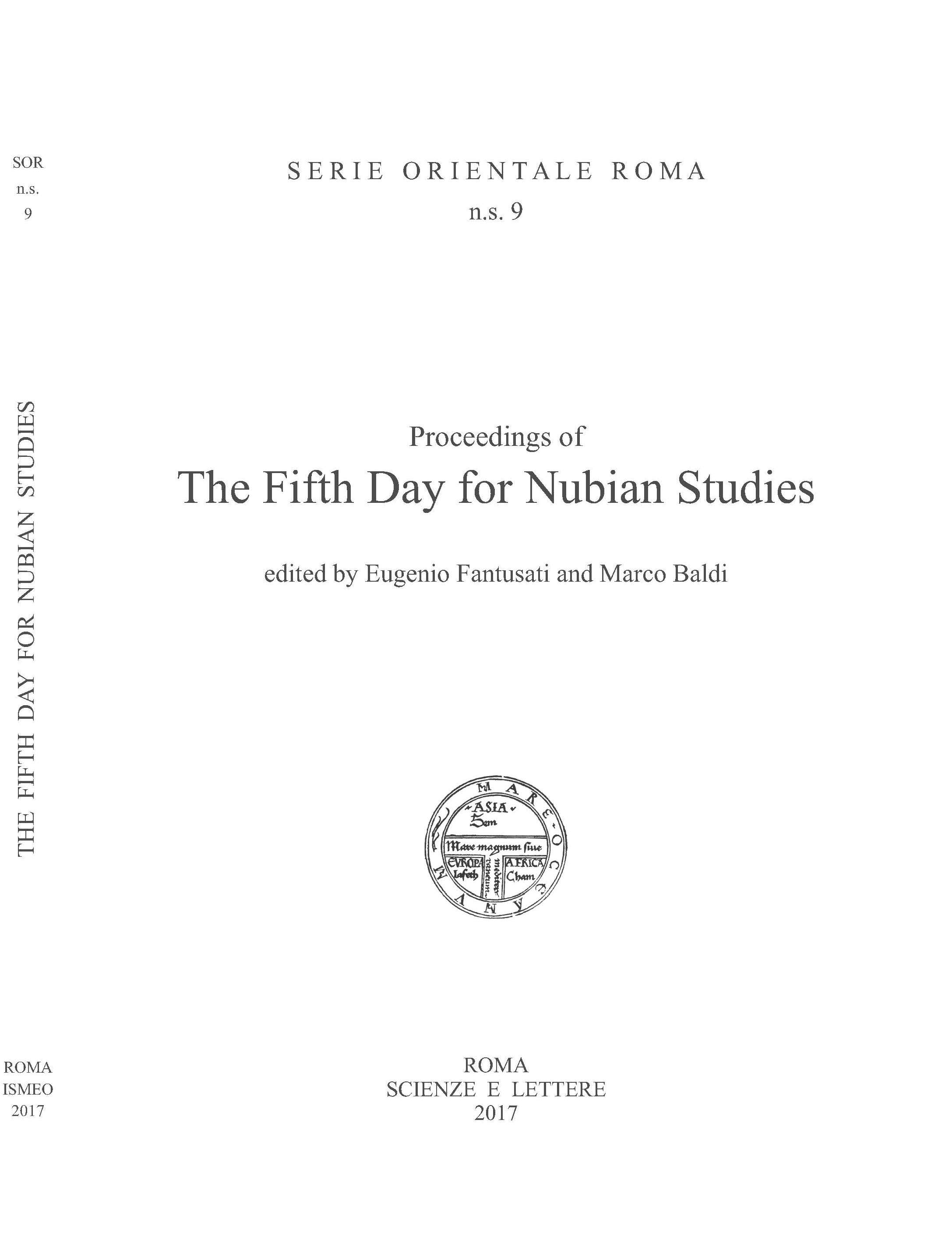 Proceedings of The Fifth Day for Nubian Studies